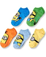 Universal Little Boys' Despicable Me 5 Pack No Show Socks