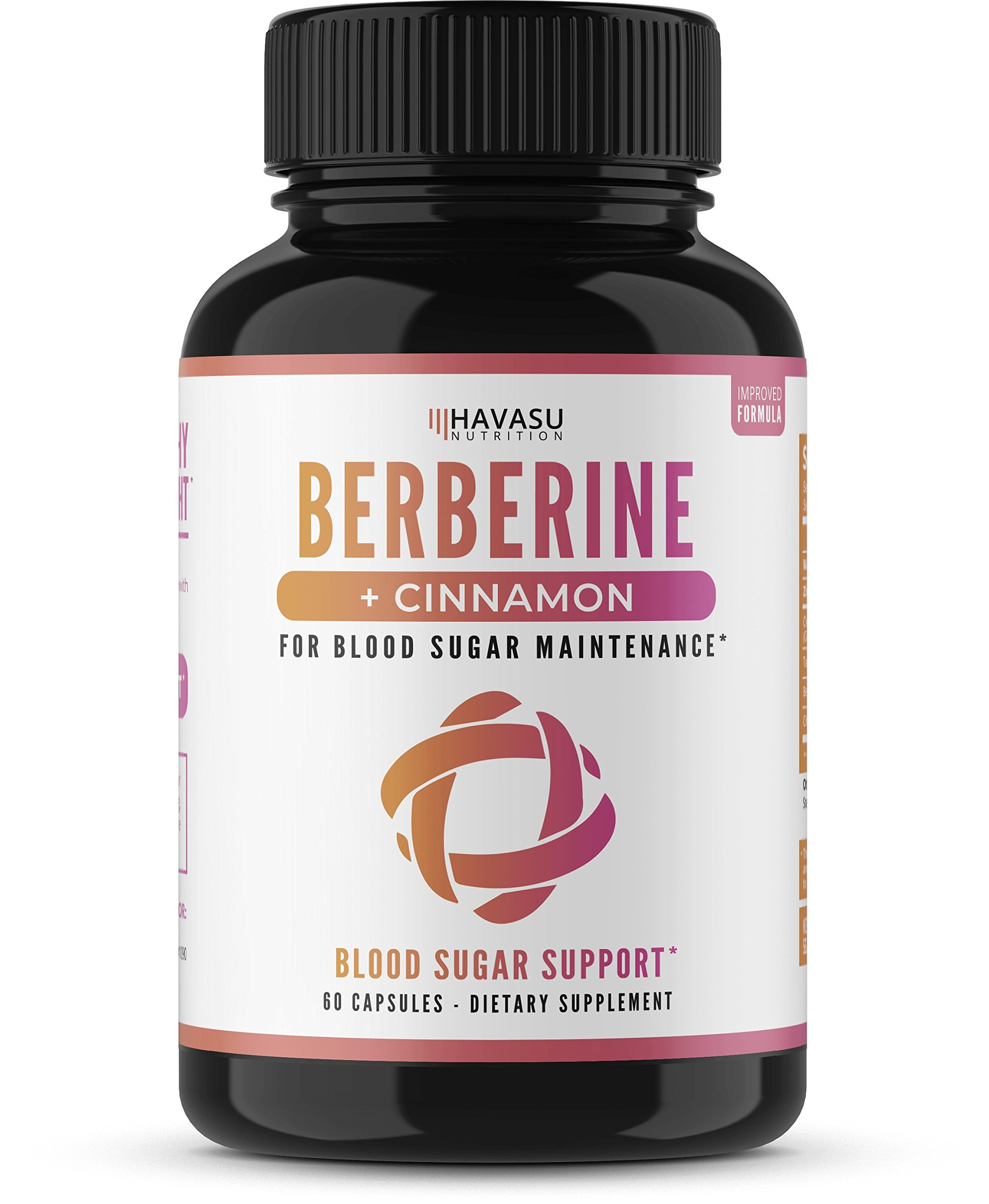 Premium Berberine + Cinnamon - Supports Healthy Blood Sugar Levels, Insulin Metabolism & Immune Function, Promotes Glucose Metabolism