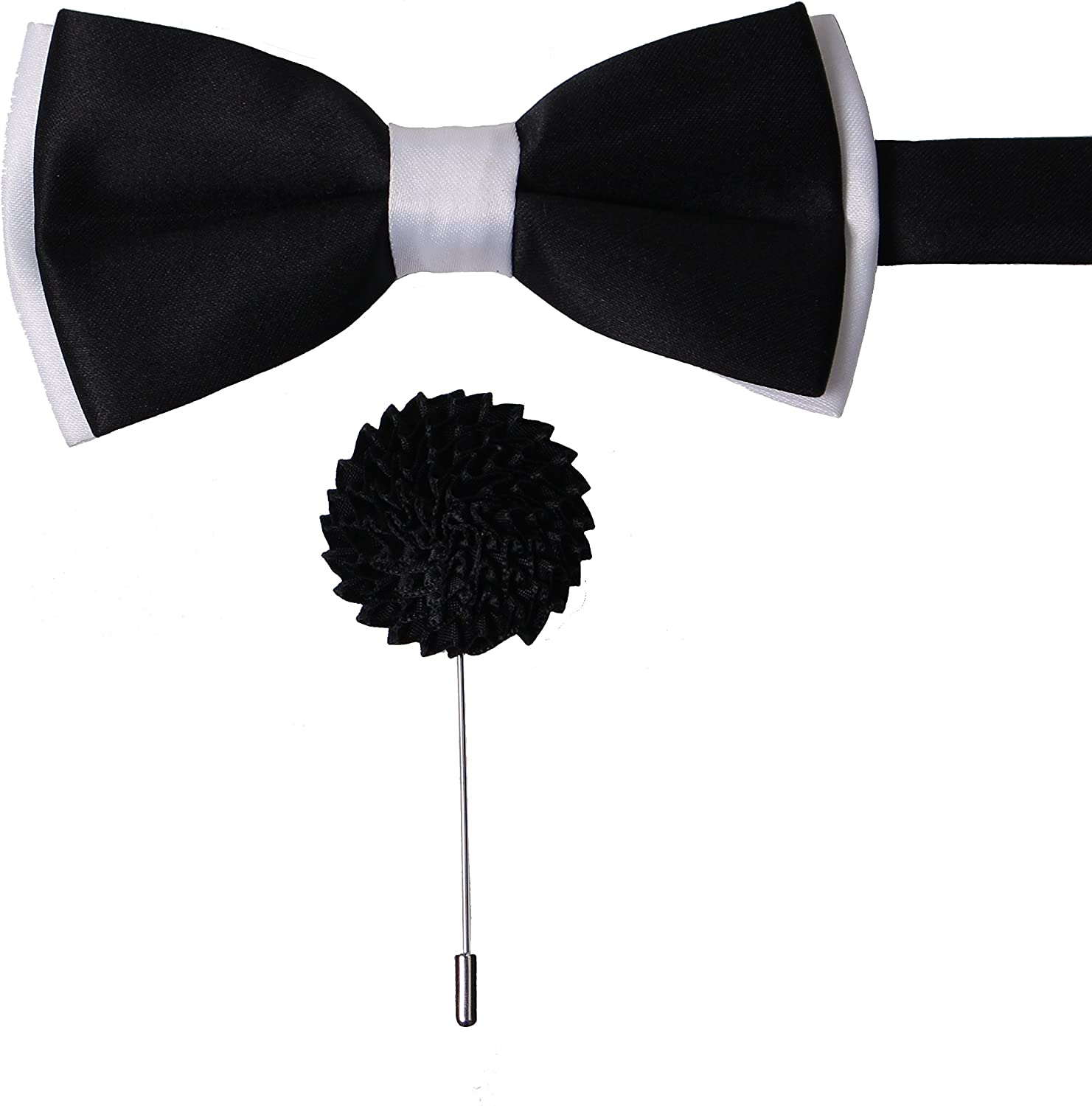 New formal ribbon Brooch Bow tie White elegant wedding gift adjustable straps