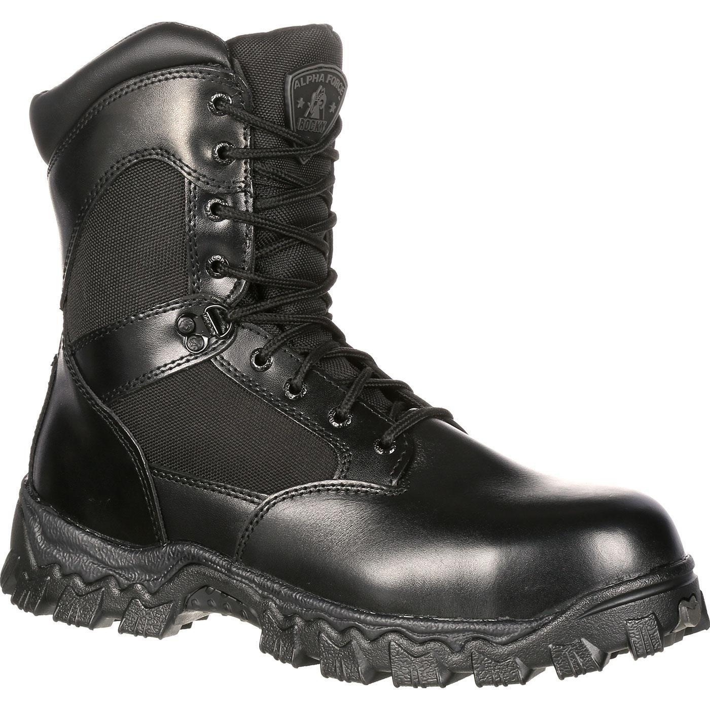 Rocky Duty Men's Alpha Force 8'' Zipper Boot,Black,9.5 M by Rocky