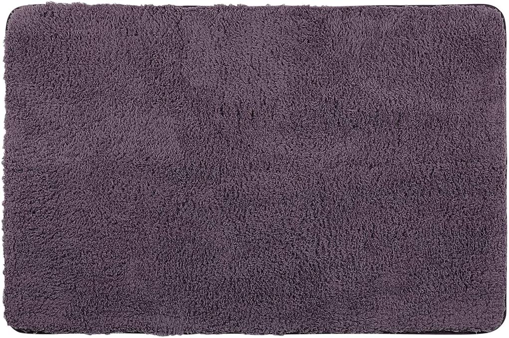 uxcell Soft Plush Shag Area Runner Rug Mat 31.5×47 Inch Contemporary Shaggy Collection Area Carpet Rugs for Living Bedroom Purple Rectangle