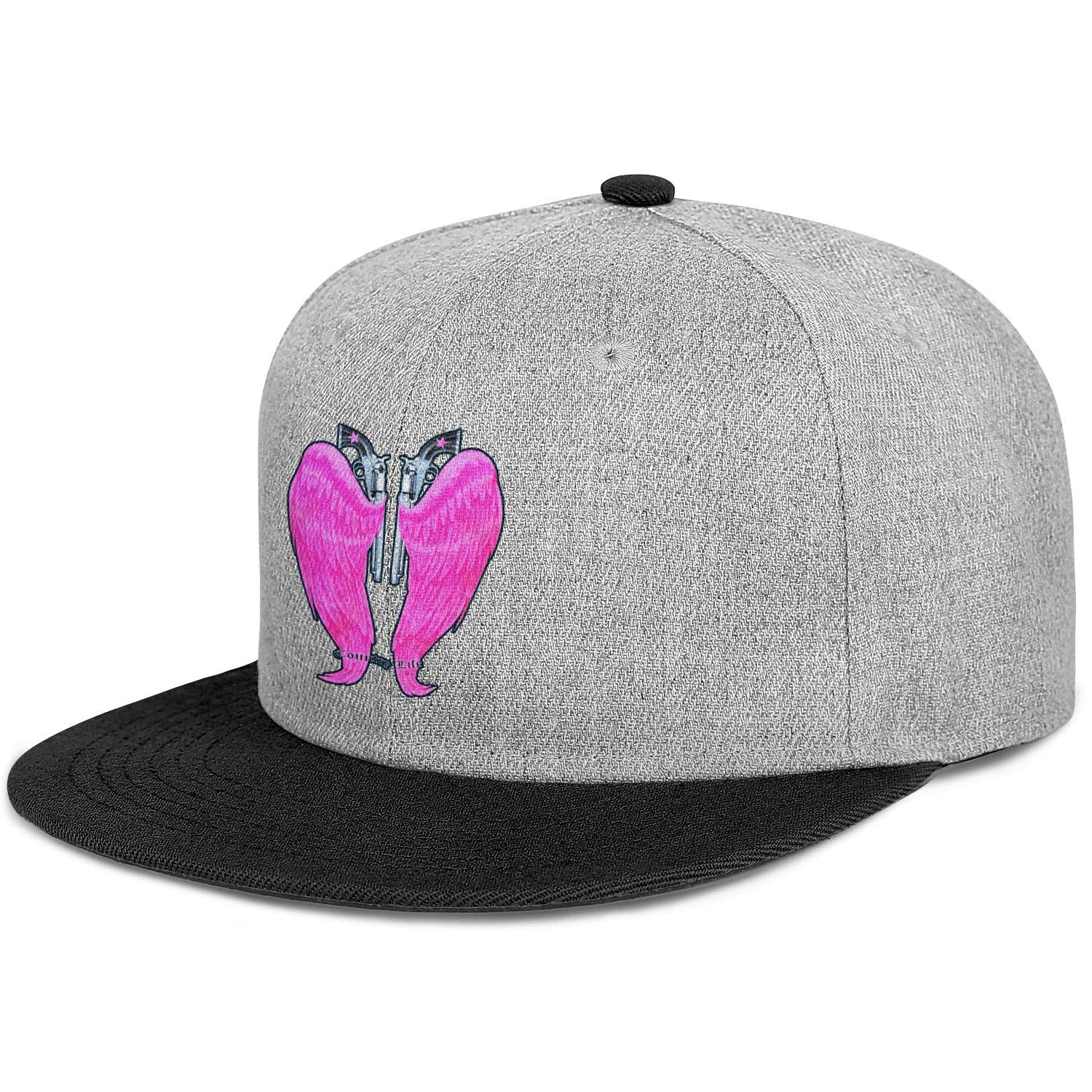 Country Life Guns and Angel Wings Black and Pink Men Women Wool Ball Cap Adjustable Snapback Sports Hat
