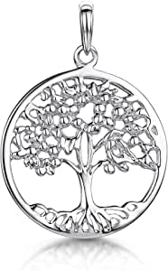 Amberta 925 Sterling Silver - Tree of Life Pendant for Women - Various Styles - Family Protection Symbol