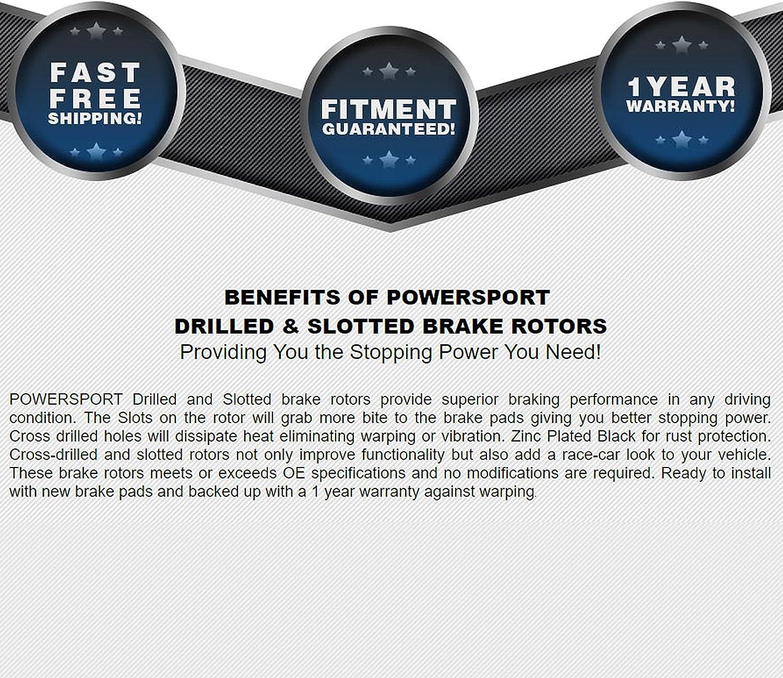 Ceramic Pads BBCC.65152.02 Full Kit PowerSport Black Drill//Slot Brake Rotors