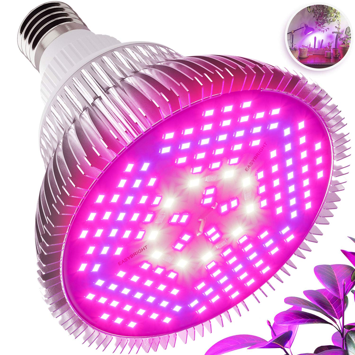 100W LED Grow Light Bulb - Full Spectrum Lamp for Indoor Plants, Garden, Flowers, Vegetables, Greenhouse & Hydroponic Growing | E27 Base 150 LEDs (AC85-265V) by Haus Bright by Haus Bright
