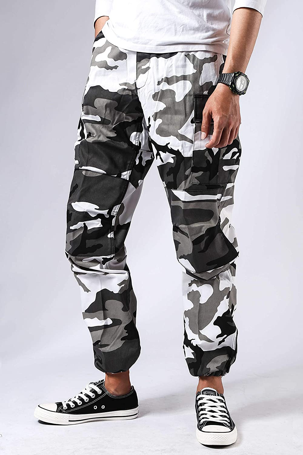 BACKBONE Mens Fashion Bright Camouflage Cargo Pants Military Combat Style BDU Pants