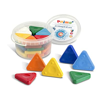 Primo Triangle Crayons, Assorted Colors, Tub of 30 (0771TR): Office Products