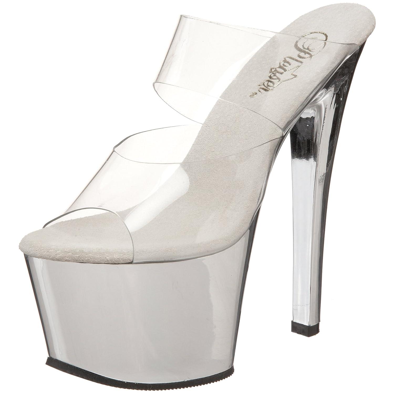 Pleaser Women's Sky-302 Platform Sandal B0017T3ZEG 13 B(M) US|Clear