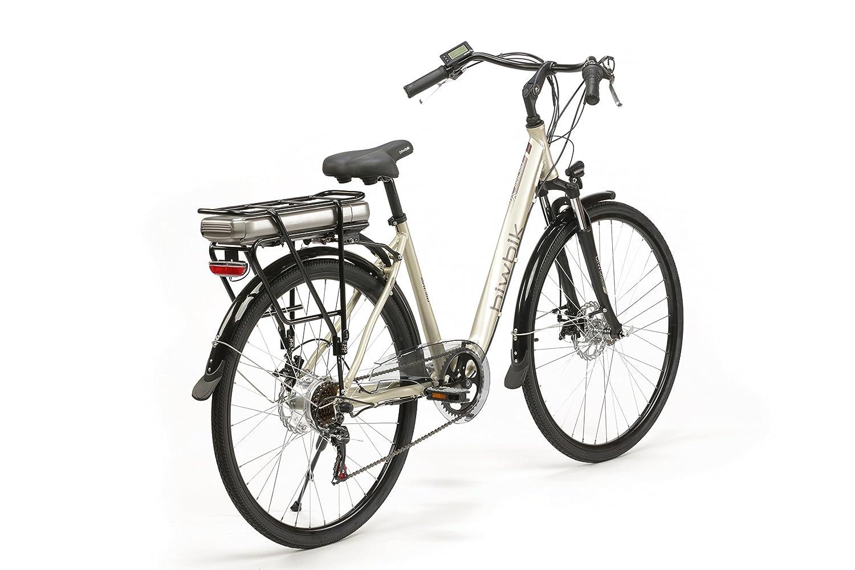 BIWBIK Bicicleta ELECTRICA Modelo Malmo BATERIA 37V13AH (Champagne): Amazon.es: Deportes y aire libre