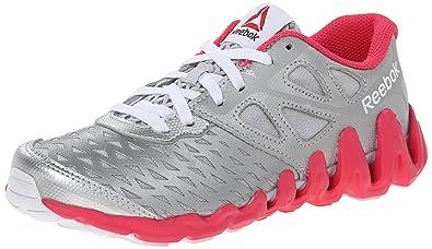 ed77083518f01 Reebok Zigtech Big N Tough Running Shoe (Little Kid/Big Kid), Silver ...