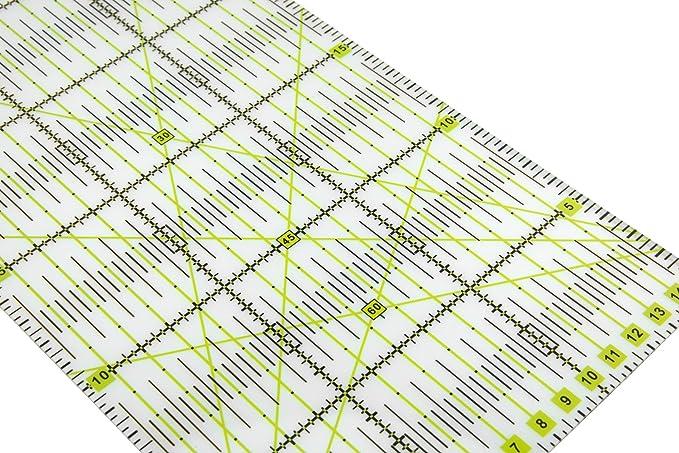 Fai da Te Lialina/® Righello Universale in Plastica per Patchwork Sartoria Qualting Trasparente 15x30 cm