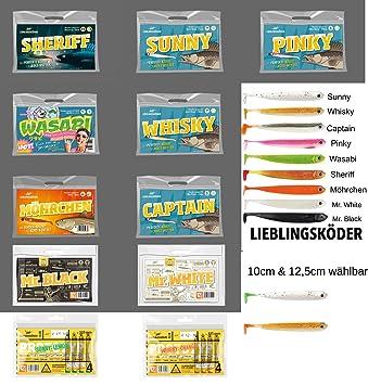 Grundfarben L/ängen Lieblingsk/öder Gummifische