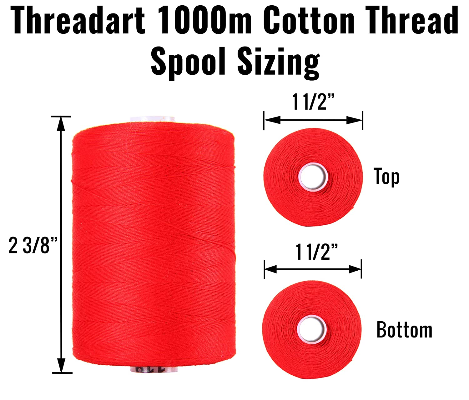 1000M Spools 50//3 Weight Sewing Color PUMPKIN and Serging 50 Colors Available For Quilting Threadart 100/% Cotton Thread