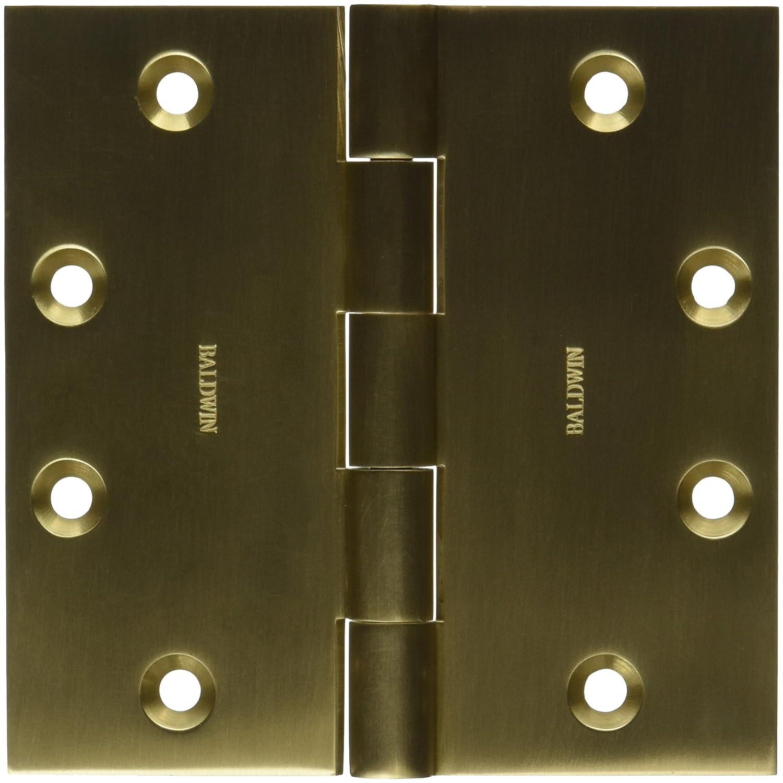 Baldwin 1045033I Square Mortise Hinge Vintage Brass
