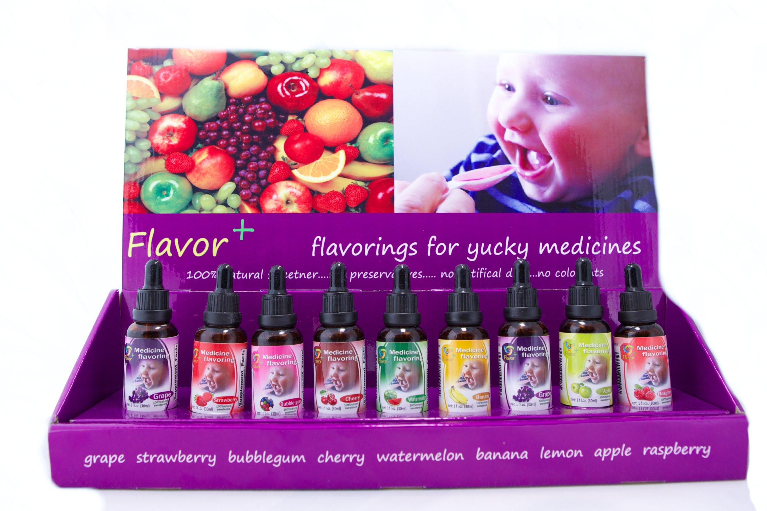 Pharmacy Flavoring Kit Prescription Vials Flavor Drops Pharmacist Rx Pediatrician Urgent Care Dentist Health Care Supply Fruit Flavors for Drugs Medication Flavors Home Flavoring Kit
