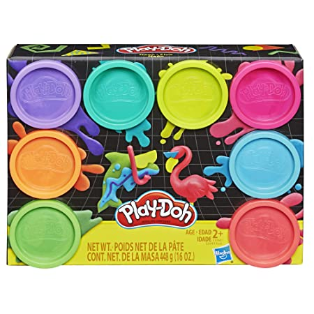 Amazon.com: Play-Doh 8-Pack Neon with 8 Colors 16oz: Toys ...