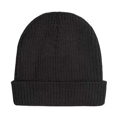 CSL YIWU008-Black Beanie Hat - Black  Amazon.co.uk  Clothing 43ddad0437ef