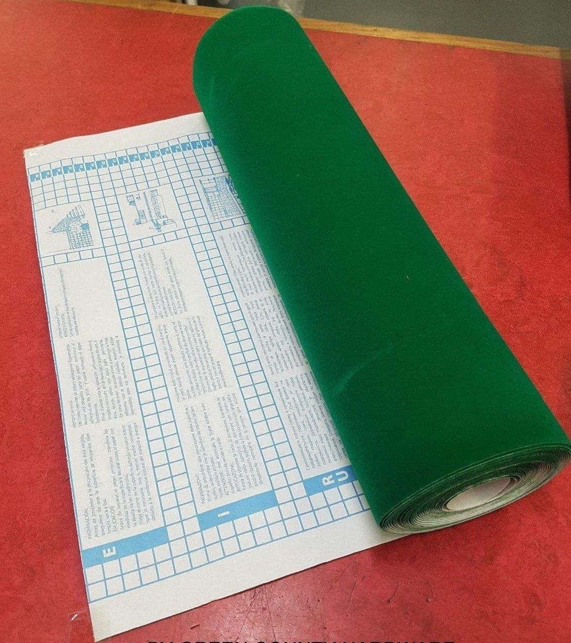 FABLON SELF ADHESIVE GREEN VELOUR/BAIZE/FELT 450mm x 1/2 metre FREEPOST