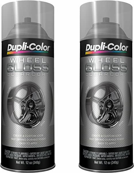 Dupli Color Hwp103 Clear High Performance Wheel Paint 12 Oz 2 Pack