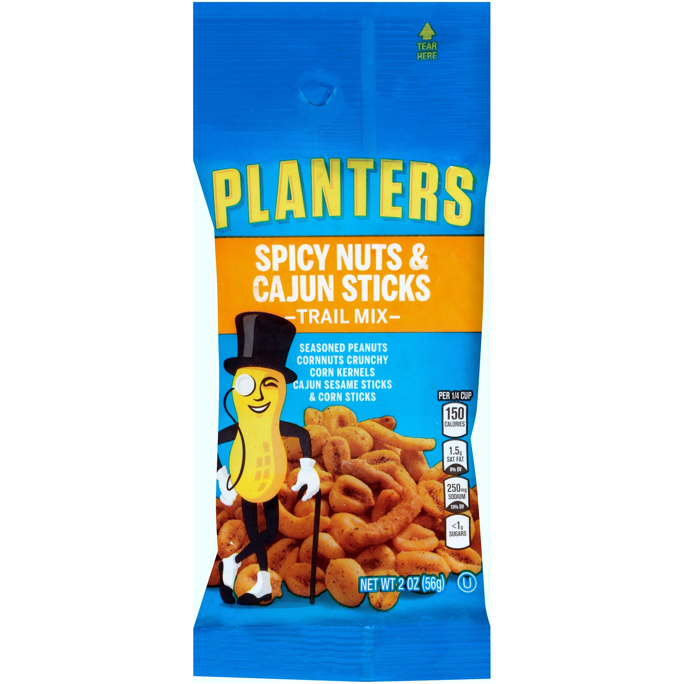 Planters Spicy Nuts & Cajun Sticks Trail Mix (2 oz Bag, Pack of 72) by Planters