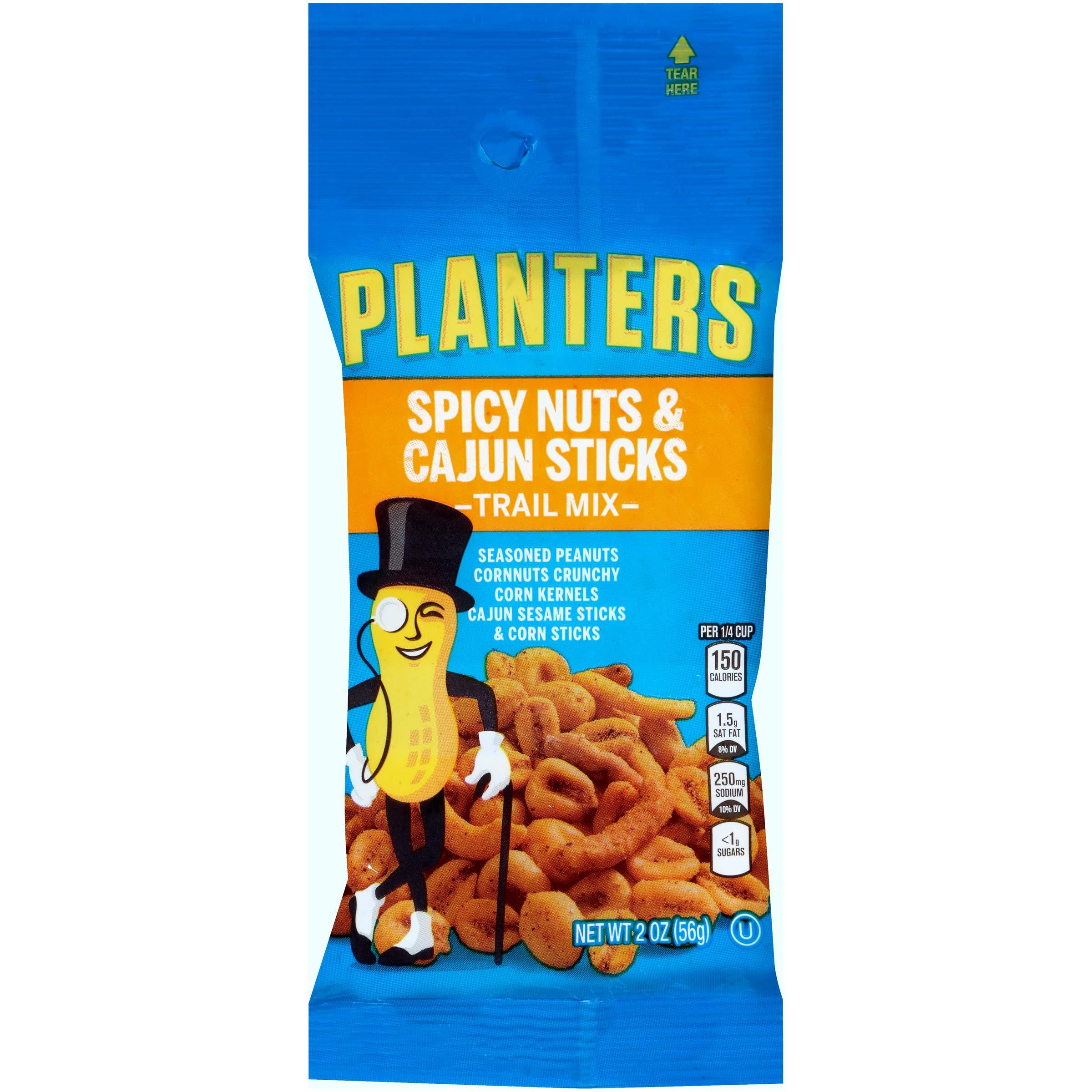 Planters Spicy Nuts & Cajun Sticks Trail Mix, 2 oz Bag (Pack of 72)