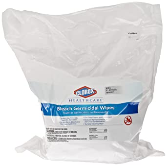 Clorox 30359 Healthcare Bleach Germicidal Wipe, Refill (110 Count)