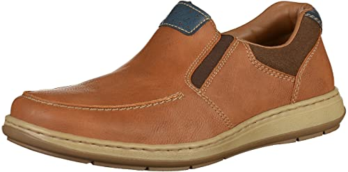 Mens 17360 Loafers, Brown, 7.5 UK Rieker