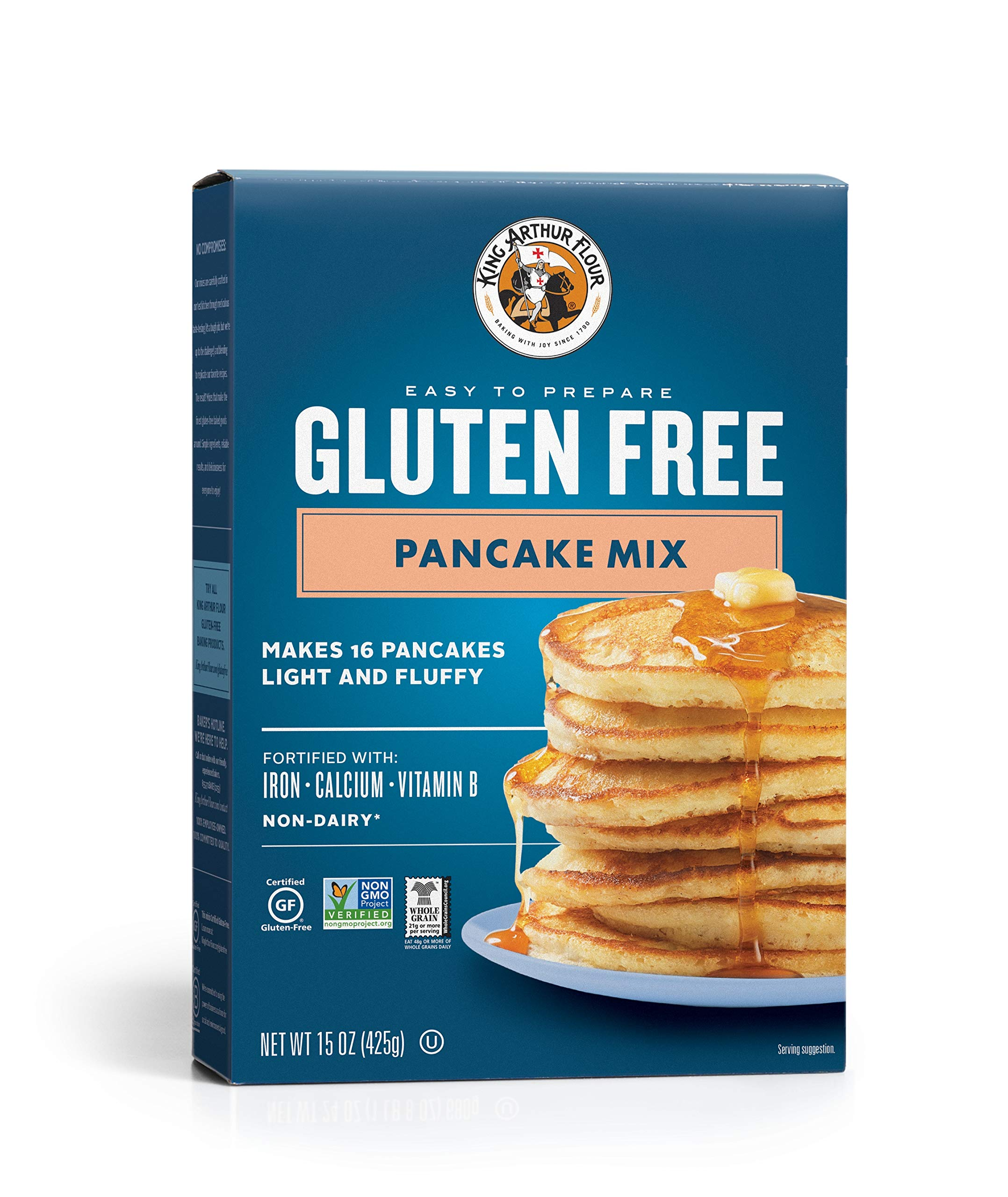 KING ARTHUR FLOUR Gluten Free Pancake Mix, 15 Ounce (Pack of 6) by King Arthur Flour