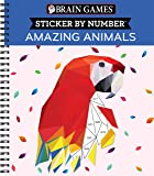 Brain Games - Sticker by Number: Amazing Animals (Geometric Stickers)