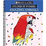 Brain Games - Sticker by Number: Amazing Animals