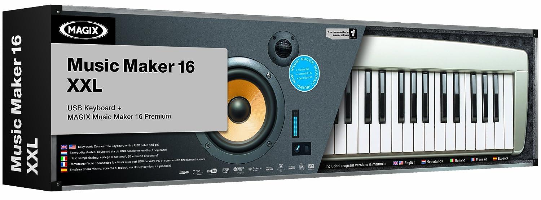 Magix Music Maker 16 Xxl Includes Usb Keyboard Pc Import Votre Software