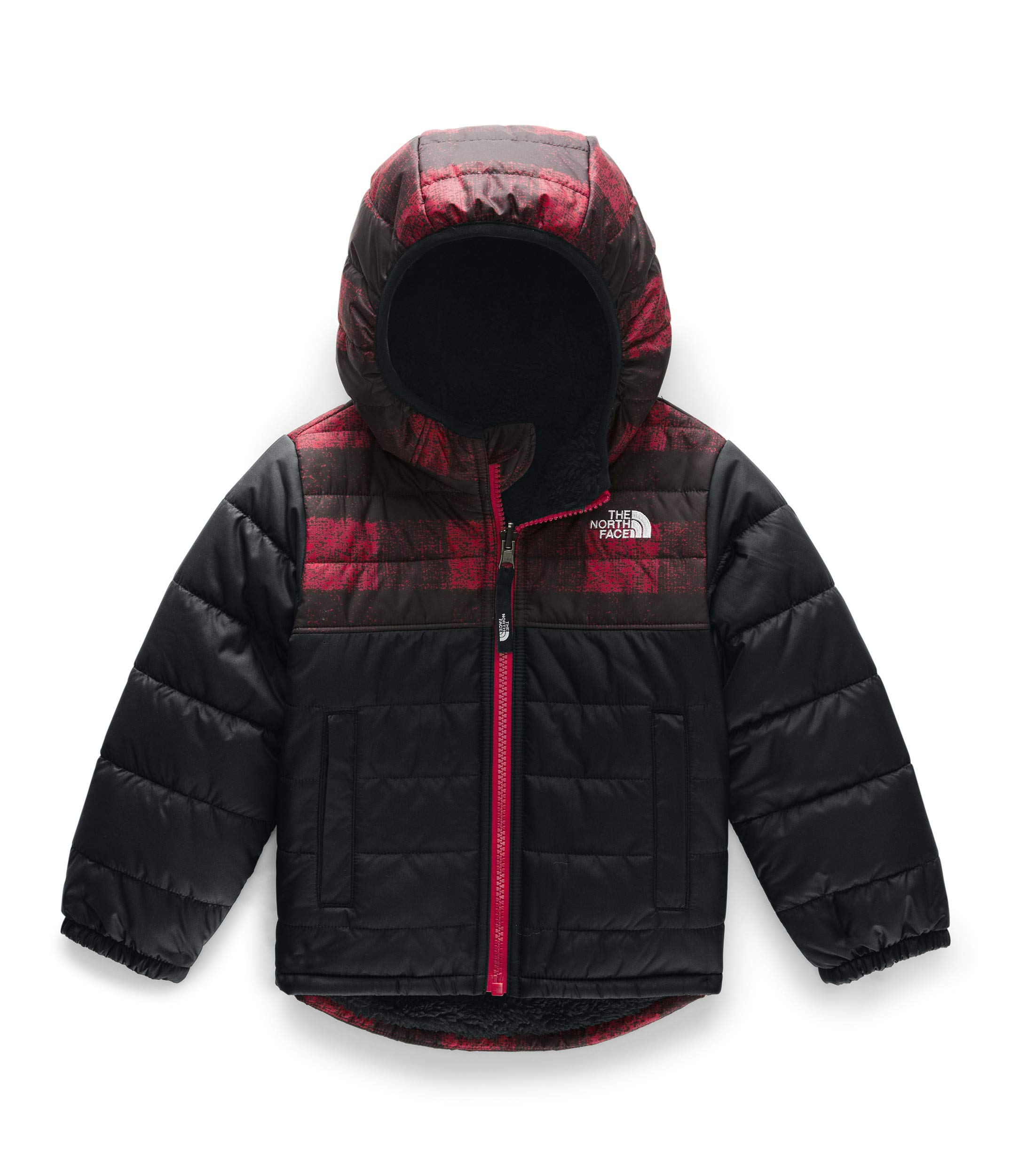 The North Face Toddler Boy's Reversible Mount Chimborazo Hoodie, TNF Red Mini Buff Check Print, 5T by The North Face