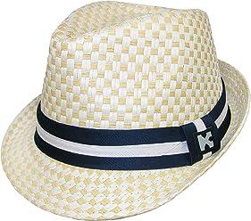 525328de Kenny K Boys' Dressy Toyo Fedora Hat Beige