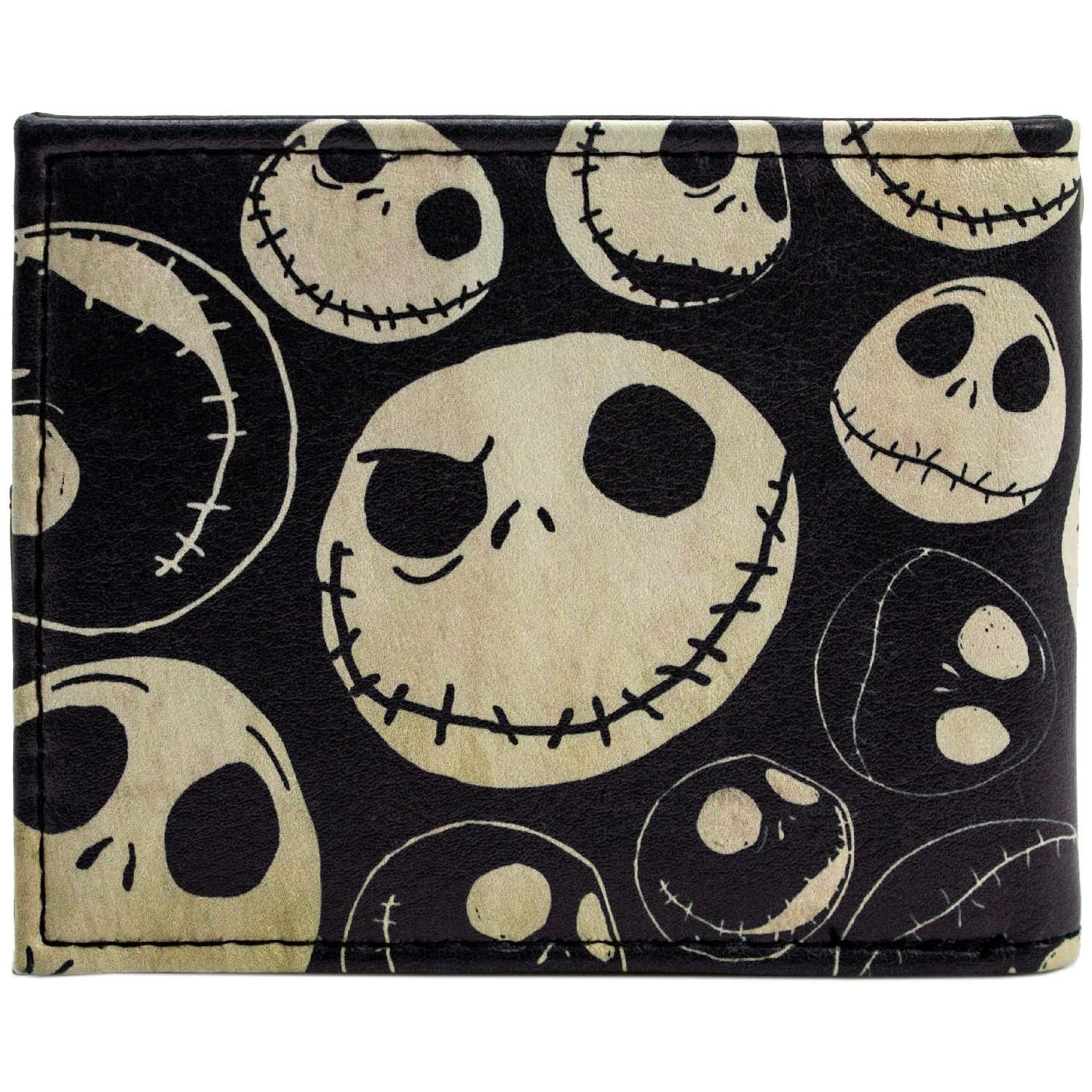Cartera de Tim Burton Nightmare Before Christmas Viejo estilo Jack Negro
