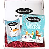 ChapStick Holiday Flavored Lip Balm Gift Set Bundle, Holiday Storybook and Snowman Pillow Gift Packs, Lip Moisturizer and Chr