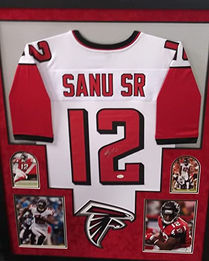 hot sale online a0922 363ed Mohamed Sanu Atlanta Falcons Autograph Signed Custom Framed ...