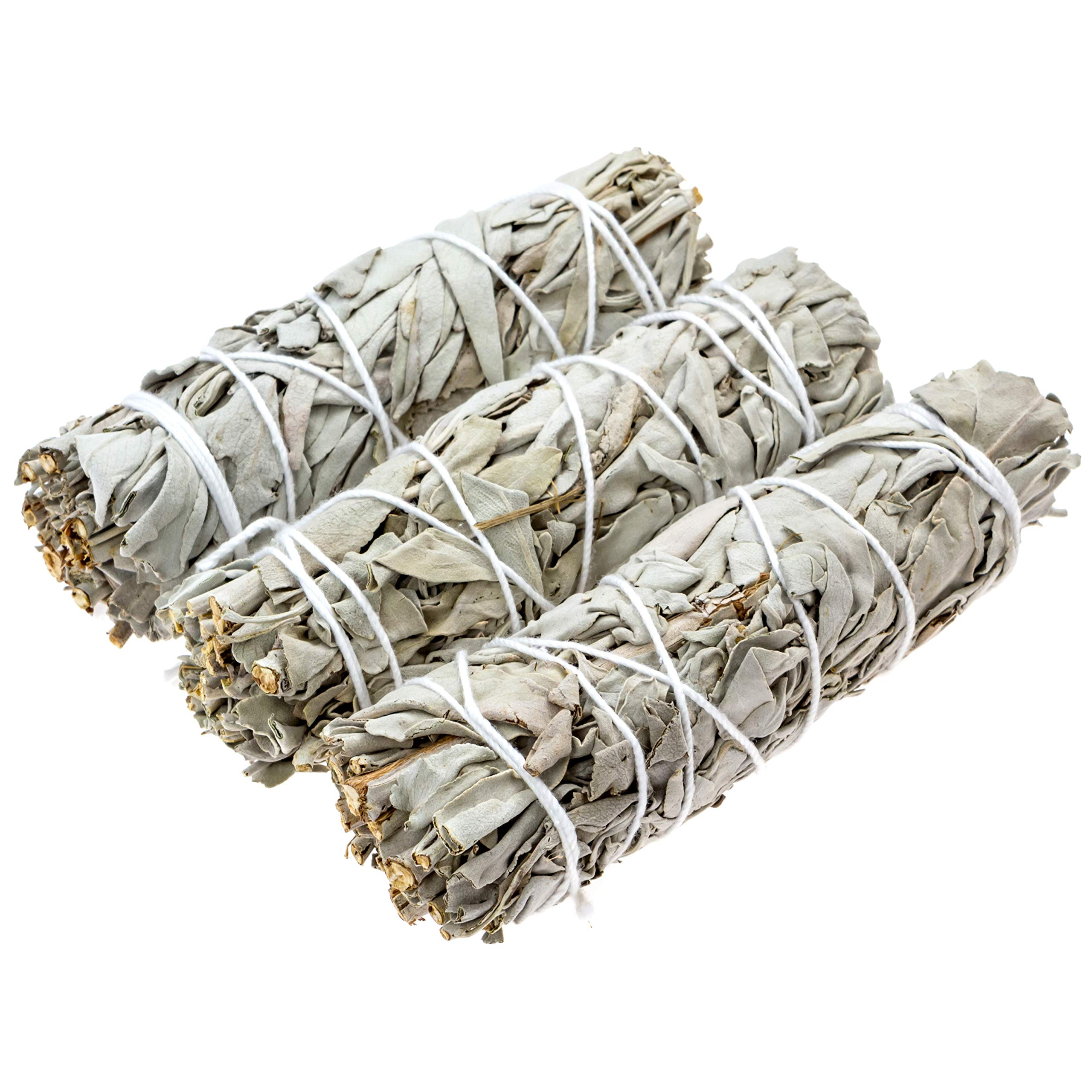 Big Lost Goods 3 Pack, Premium White Sage Smudge Sticks, Mini Bundles 4-5'' Long, Organically Grown in California. Use for: smudging, Energy Cleansing, and Meditation by Big Lost Goods (Image #1)