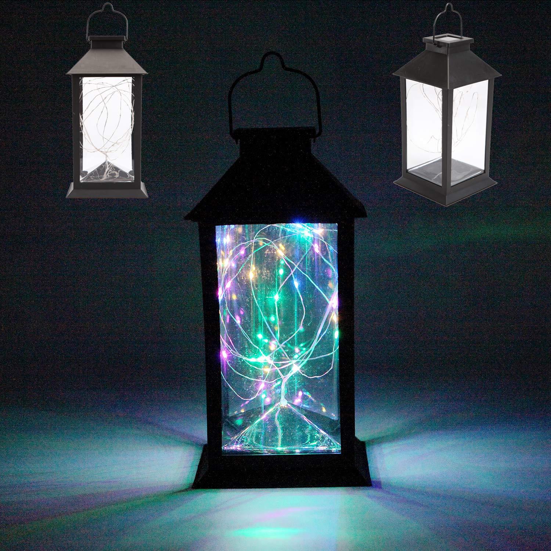 Amazoncom Sunlane Led Solar Lantern Lights Hanging Lamp Outdoor 30 Colorful