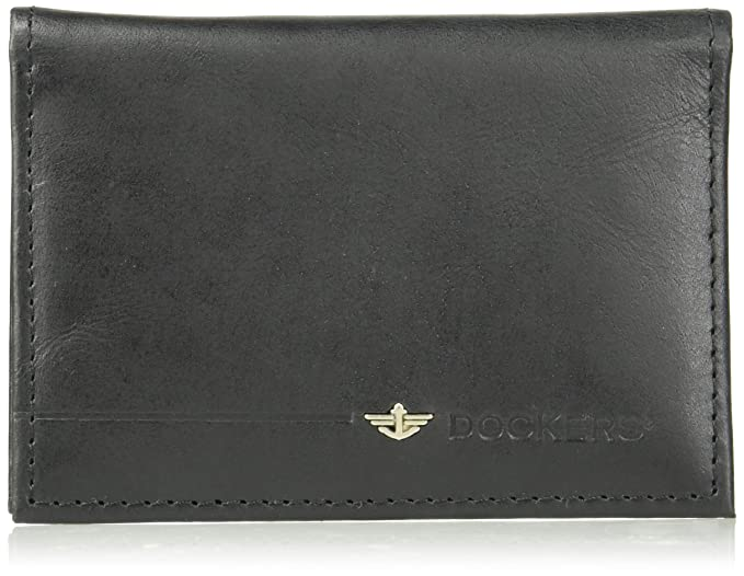 the best attitude 30318 6d8a1 Dockers Men's RFIDSecurity Blocking Folding Card Case Wallet-black, One Size