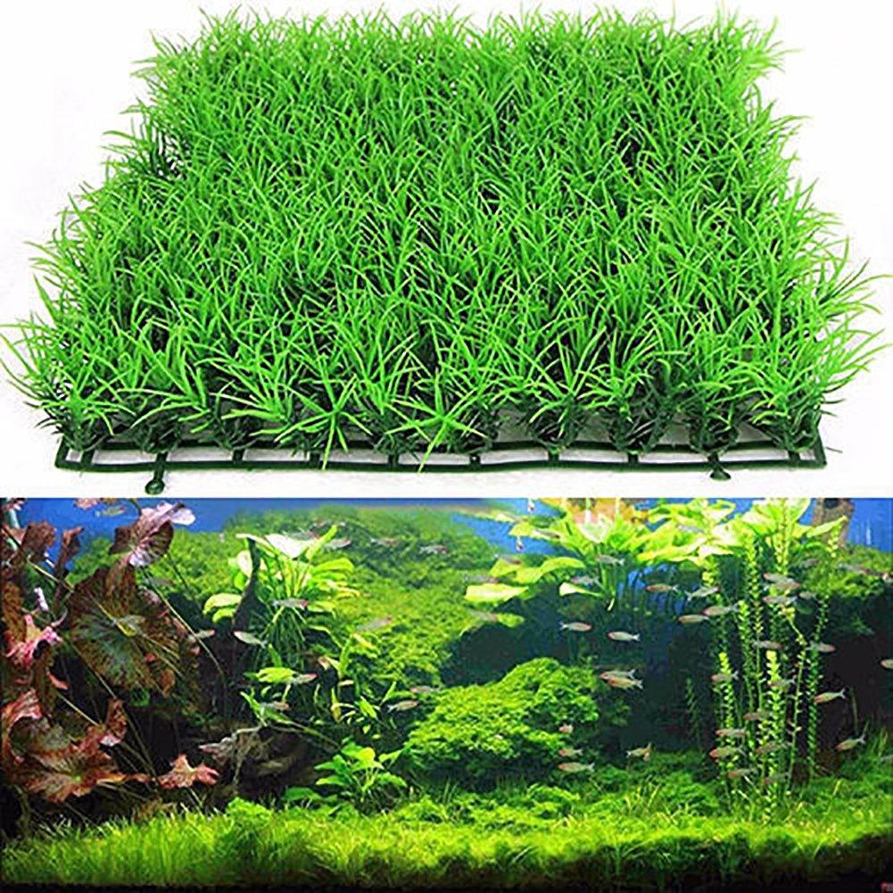 Amazon.com : Fake Green Grass Plastic Fish Tank Ornament Plant Aquarium Lawn Decor : Garden & Outdoor