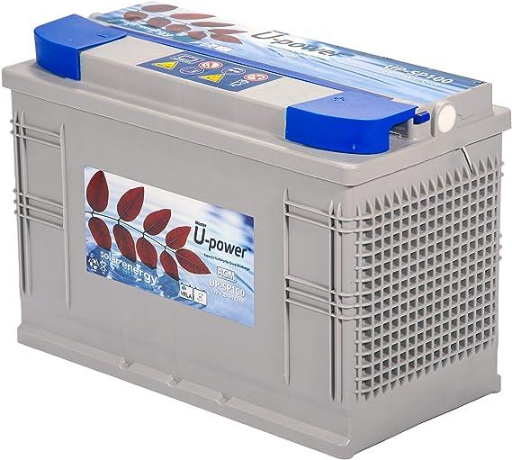 Master U-Power Batería Solar, AGM SP 100AH 12V: Amazon.es: Electrónica