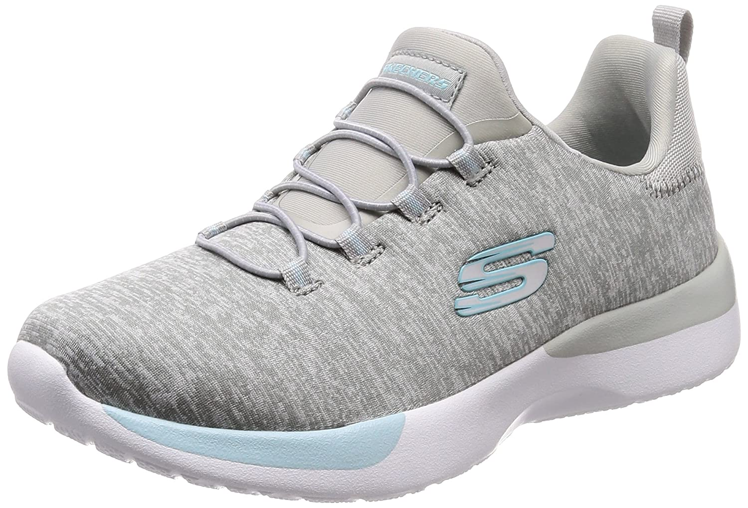 Skechers 12991/GYLP Dynamight-Break-Through Damen Sneaker Slipper Grau/Rosa  40|hellgrau - blau - wei?