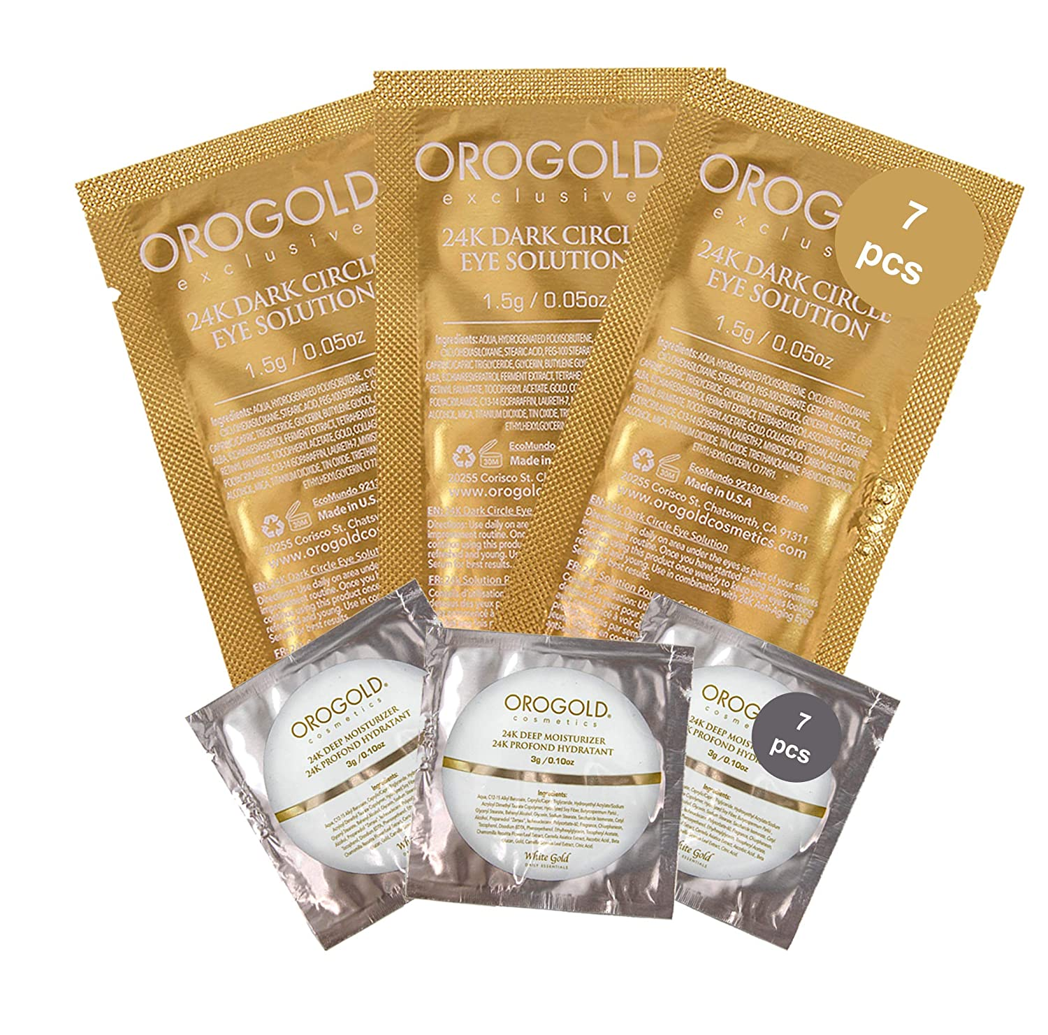 OROGOLD 24K Skin Care Samples - Travel With Fulfilment - Powerhouse Skin Care Travel Kit - Luxury Skin Care Trial Set At A Steal