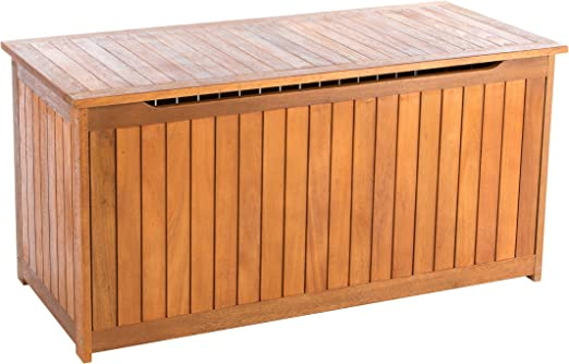 Ultranatura Canberra - Caja para Cojines, Madera de eucalipto, 125 x 55 x 61 cm: Amazon.es: Jardín