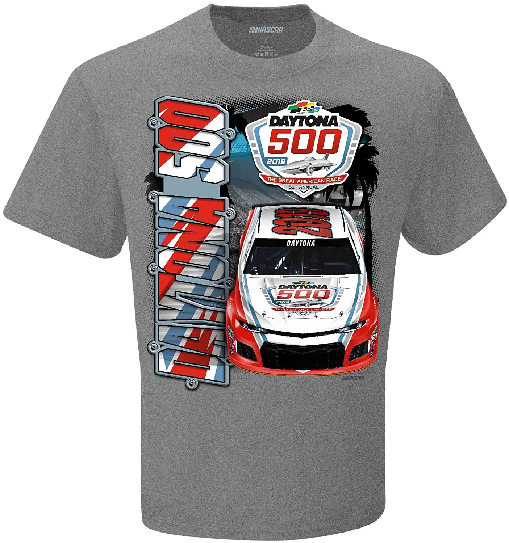 Checkered Flag 2019 Daytona 500 Charcoal Gray NASCAR T-Shirt