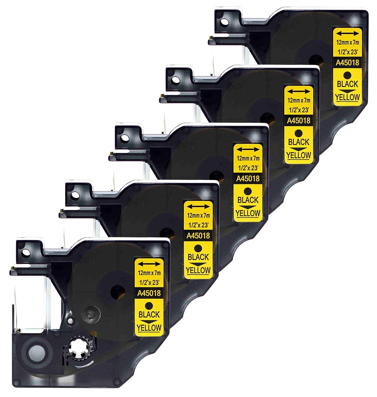 Compatibile Dymo per cassetta nastro Label 45018 Confezione da 2