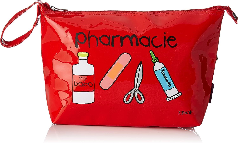 Incidence 60339 – Estuche para medicamentos de Farmacia Rojo Vinilo Cierre de Cremallera y asa de Transporte: Amazon.es: Equipaje