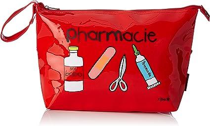 con chiusura lampo dotato di impugnatura di trasporto Incidence 60339 Astuccio per farmaci materiale vinilico colore: Rosso