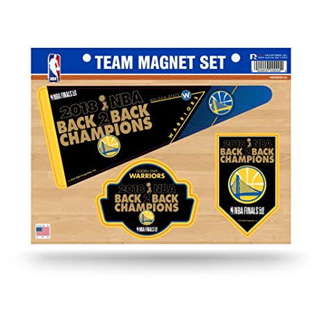 e0ee56ba0 Image Unavailable. Image not available for. Color  Rico Industries NBA  Golden State Warriors 2018 Basketball Champions Die Cut Team Magnet Set  Sheet