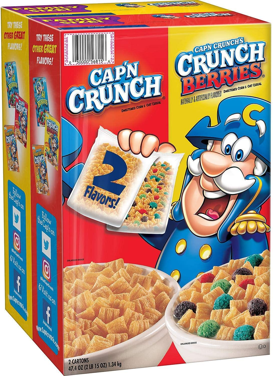 Cap N Crunch Original Crunch Berries And Oops All Berries Variety Pack Cereal 54 1 Ounce 1 53kg S Amazon Ca Grocery You can vote for oops! cap n crunch original crunch berries